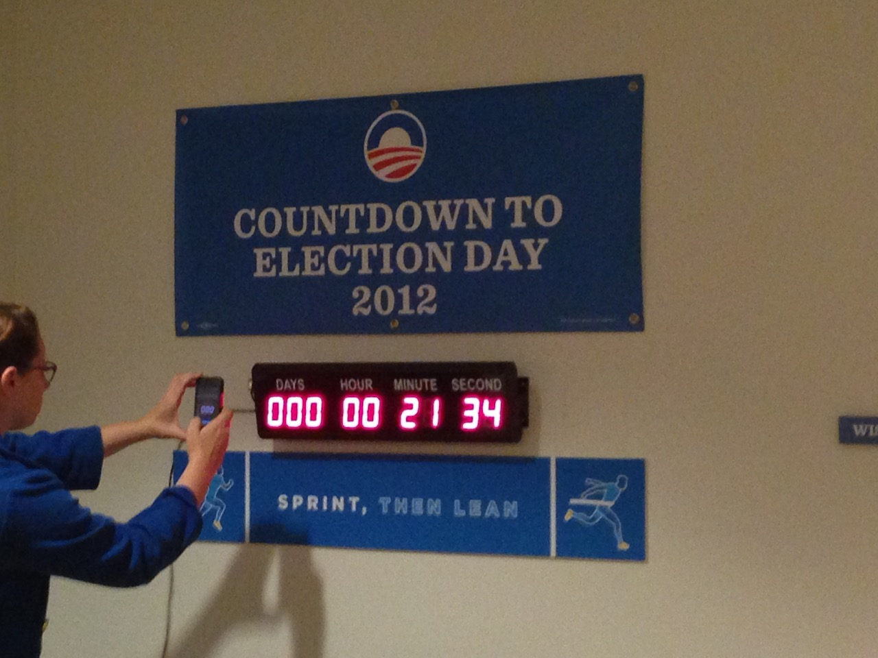 Election countdown clock